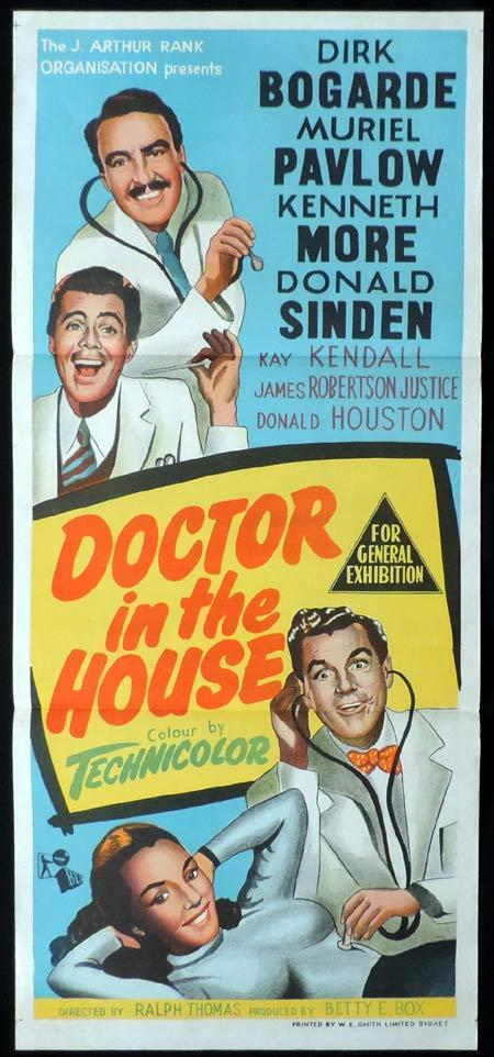DOCTOR IN THE HOUSE Original Daybill Movie Poster Dirk Bogarde