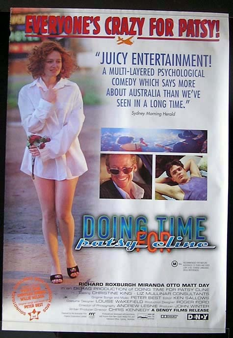 DOING TIME FOR BETSY CLINE Miranda Otto Australian 1 sheet Movie poster