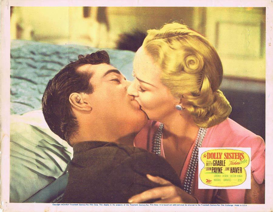 THE DOLLY SISTERS Lobby Card Betty Grable June Haver John Payne