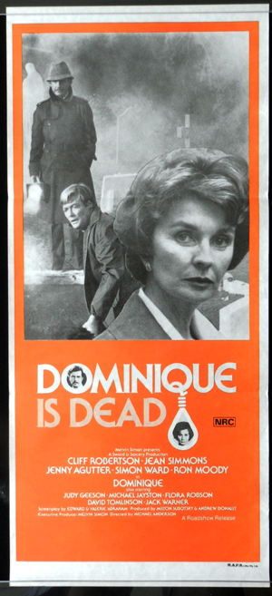 DOMINIQUE IS DEAD 1980 Daybill Movie poster Jean Simmons Horror Thriller