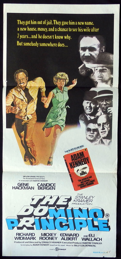 THE DOMINO PRINCIPLE Gene Hackman Candice Bergen Daybill Movie poster Richard Widmark