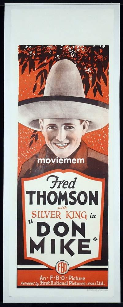 DON MIKE Long Daybill Movie poster 1927 Fred Thomson