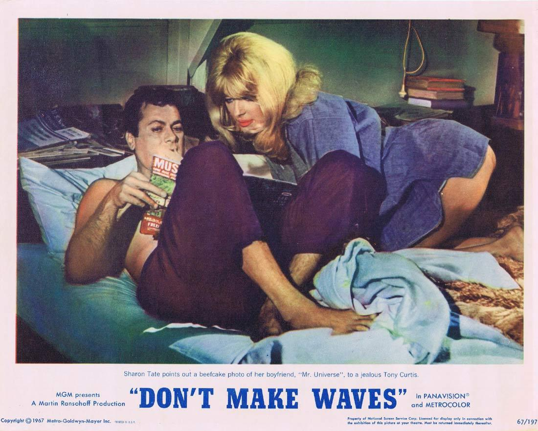 DONT MAKE WAVES Lobby Card 2 Tony Curtis SURFING Claudia Cardinale Sharon Tate