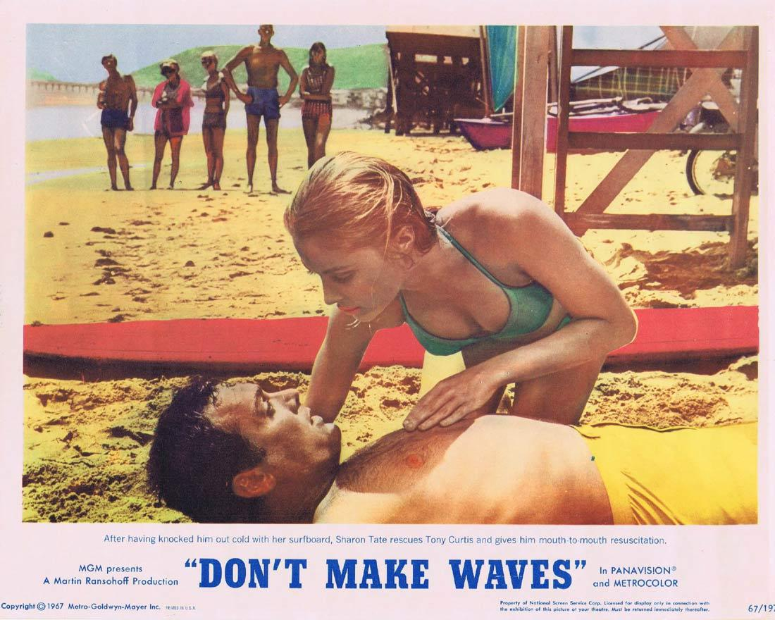DONT MAKE WAVES Lobby Card 3 Tony Curtis SURFING Claudia Cardinale Sharon Tate