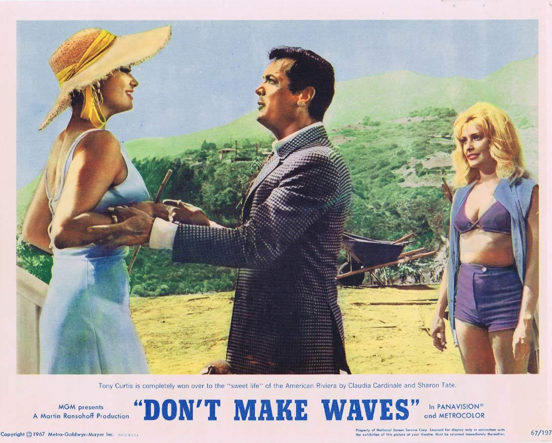 DONT MAKE WAVES Lobby Card 4 Tony Curtis SURFING Claudia Cardinale Sharon Tate