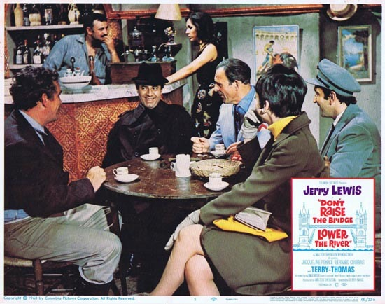 DONT RAISE THE BRIDGE LOWER THE RIVER Lobby Card 5 1967 Jerry Lewis