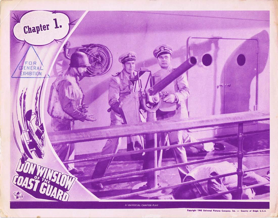 DON WINSLOW OF THE COAST GUARD Original Lobby Card Universal Serial 1944