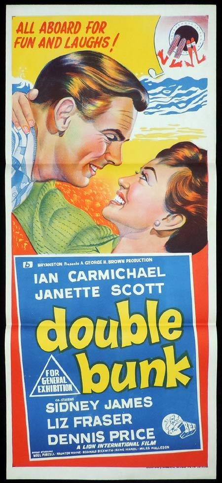DOUBLE BUNK Original Daybill Movie Poster Ian Carmichael British Comedy