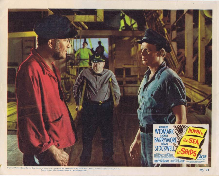DOWN TO THE SEA IN SHIPS Lobby Card 4 War Film Richard Widmark