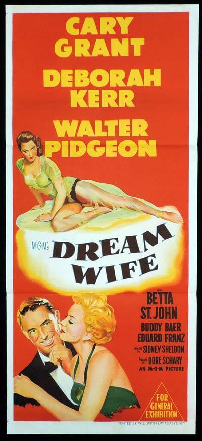DREAM WIFE Original Daybill Movie Poster Cary Grant Deborah Kerr