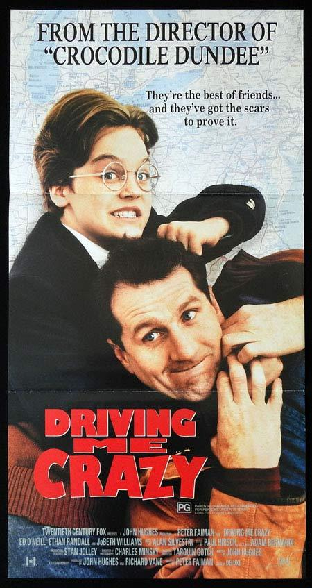 DRIVING ME CRAZY aka DUTCH Original Daybill Movie Poster PETER FAIMAN John Hughes