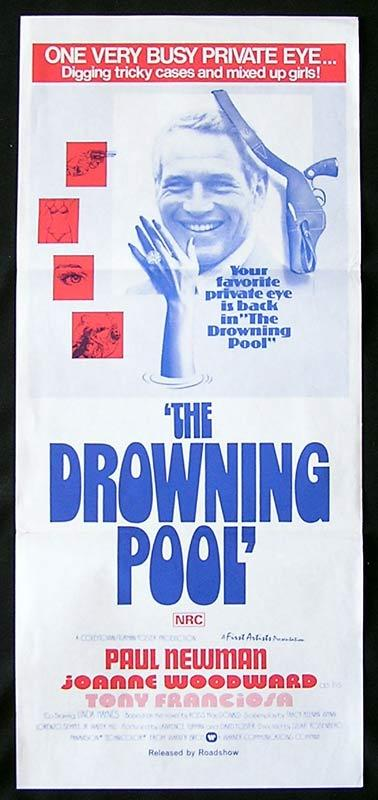 THE DROWNING POOL Daybill Movie Poster Paul Newman