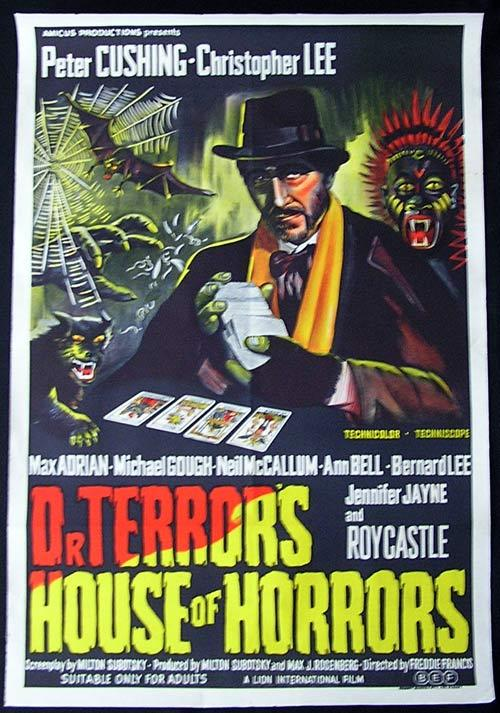 DR TERROR'S HOUSE OF HORRORS One sheet Movie poster Christopher Lee