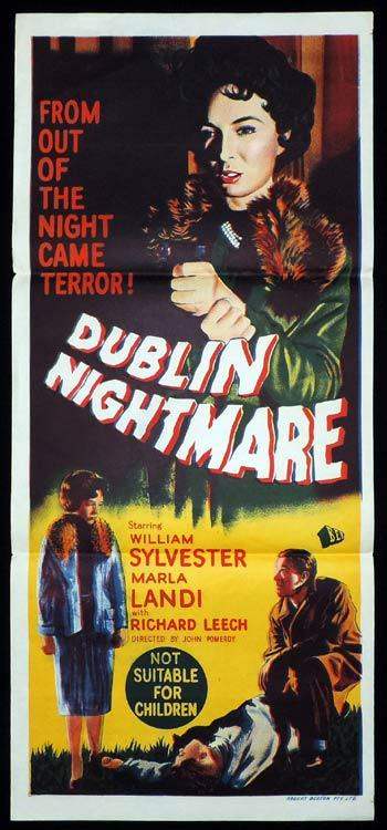 DUBLIN NIGHTMARE Daybill Movie poster Irish Film Noir