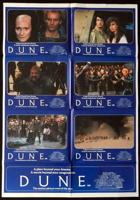 DUNE Photo sheet Movie Poster 1984 Francesca Annis DAVID LYNCH