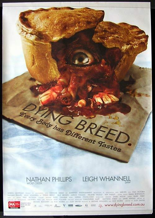 DYING BREED Movie poster 2008 Leigh Whannell Australian Cinema One sheet