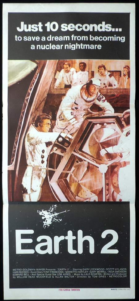 EARTH 2 Daybill Movie poster Gary Lockwood Space Travel Sci Fi