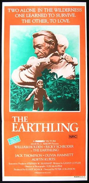 EARTHLING Movie poster 1980 William Holden Australian Film daybill
