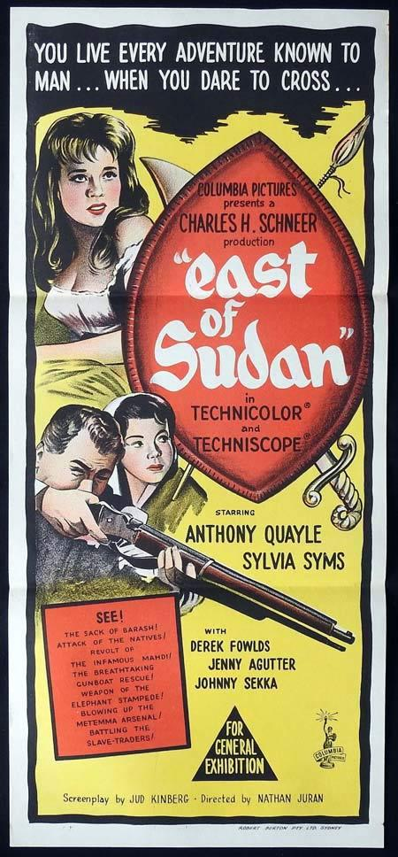 EAST OF SUDAN Original Daybill Movie Poster Anthony Quayle Jenny Agutter Sylvia Sims