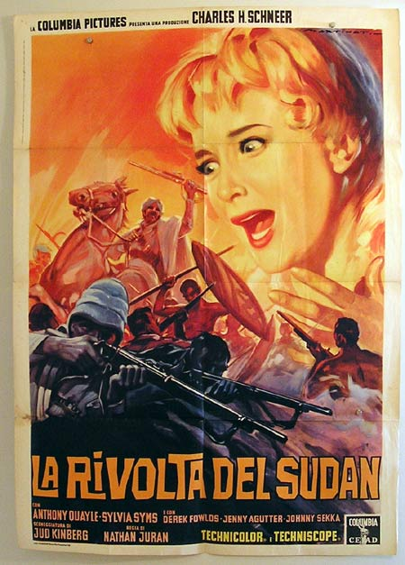 EAST OF SUDAN Original Italian Movie Poster LUIGI MARTINATI art