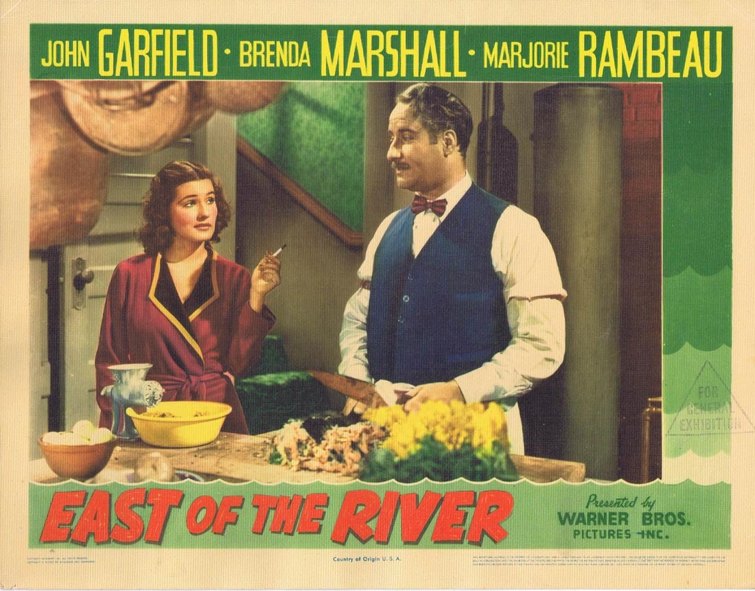 EAST OF THE RIVER Lobby Card 2 John Garfield Brenda Marshall Marjorie Rambeau