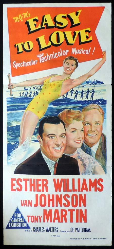 EASY TO LOVE Original Daybill Movie Poster Esther Williams Van Johnson