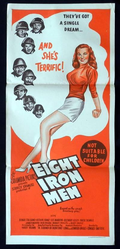 EIGHT IRON MEN Original Daybill Movie Poster Edward Dmytryk Lee Marvin