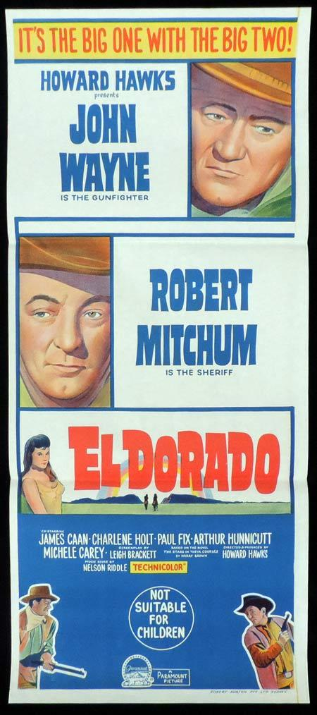 EL DORADO Original Daybill Movie Poster John Wayne Robert Mitchum