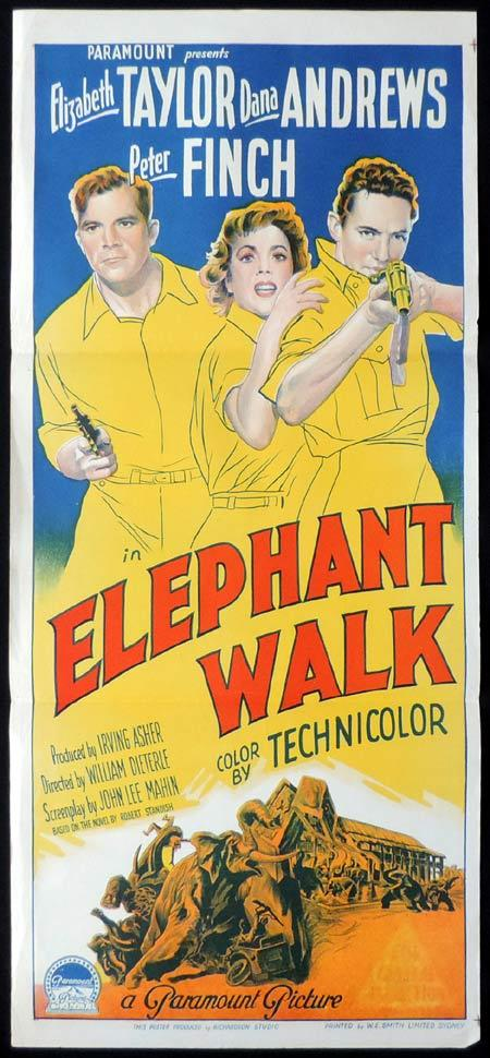 Elephant Walk, William Dieterle, Elizabeth Taylor Dana Andrews Peter Finch Abraham Sofaer Abner Biberman