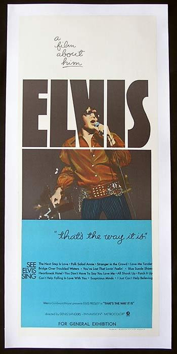ELVIS THAT'S THE WAY IT IS 1970 Elvis Presley Original Movie Poster