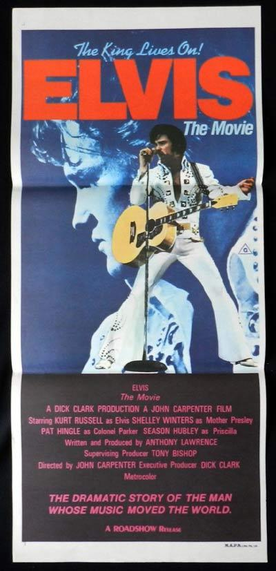ELVIS The Movie Original Daybill Poster 1979 Kurt Russell Elvis Presley