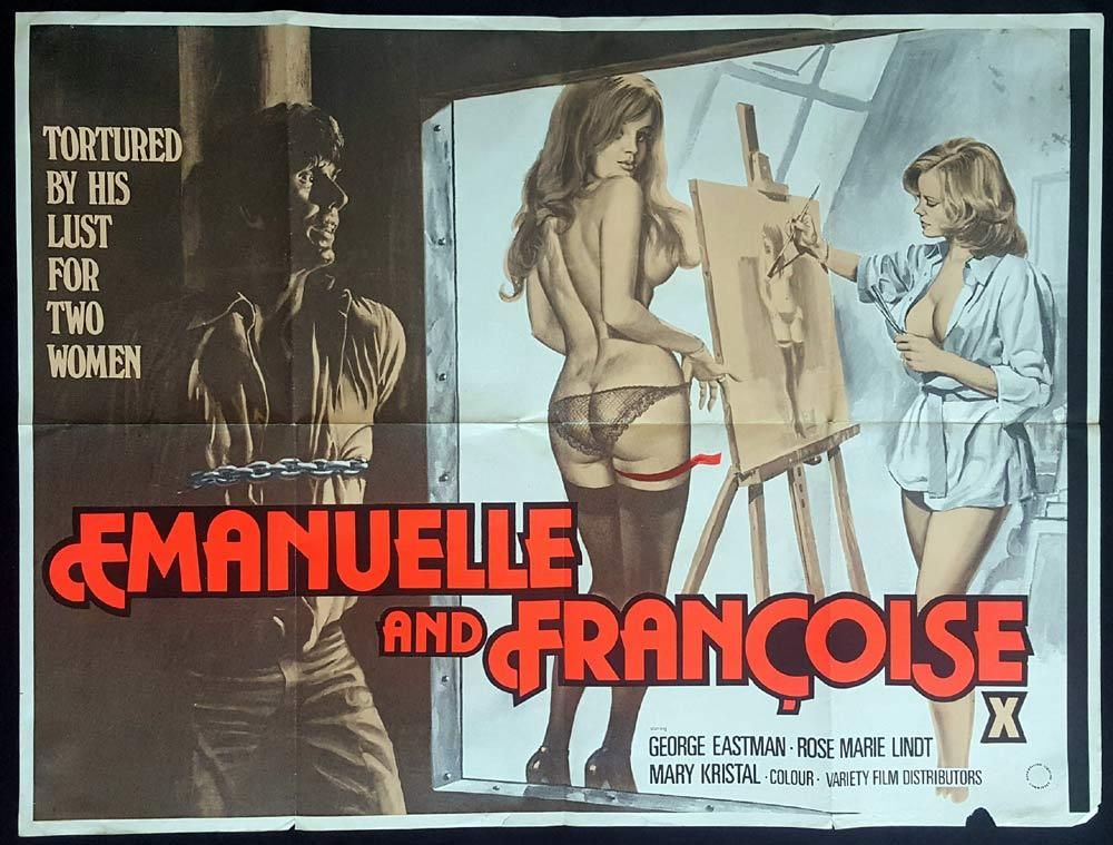EMANUELLE AND FRANCOISE British Quad Movie poster Le sorelline