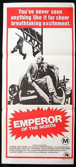 EMPEROR OF THE NORTH 1973 Australian Daybill Movie poster Lee Marvin