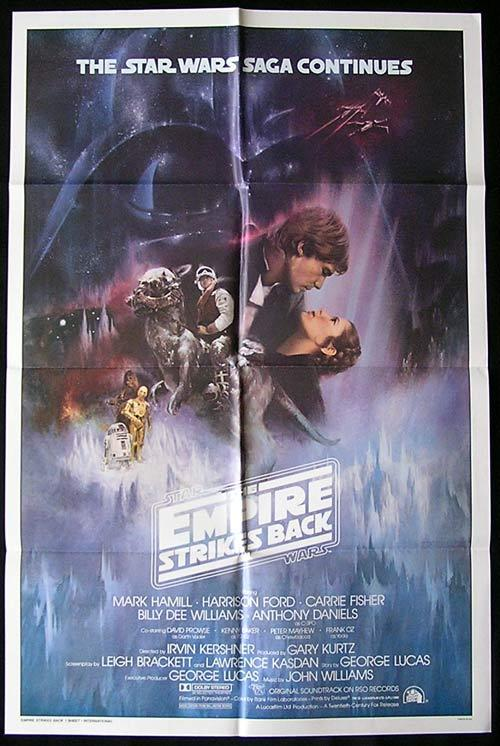 EMPIRE STRIKES BACK 1980 Star Wars ORIGINAL International US 1sh Poster - EMPIRE STRIKES BACK 1980 Star Wars ORIGINAL International US 1sh Poster