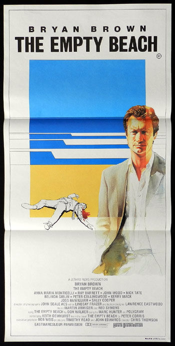 THE EMPTY BEACH 1985 Bryan Brown Australian Daybill Movie Poster