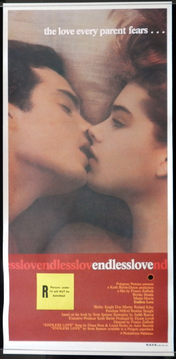 ENDLESS LOVEDaybill Movie poster Franco Zeffirelli Brooke Shields