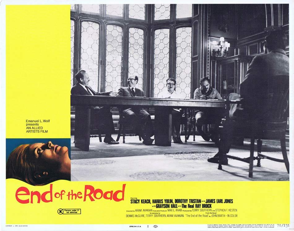END OF THE ROAD Lobby Card 1 James Earl Jones Stacy Keach Dorothy Tristan
