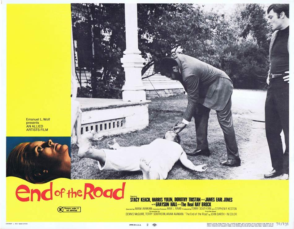 END OF THE ROAD Lobby Card 2 James Earl Jones Stacy Keach Dorothy Tristan