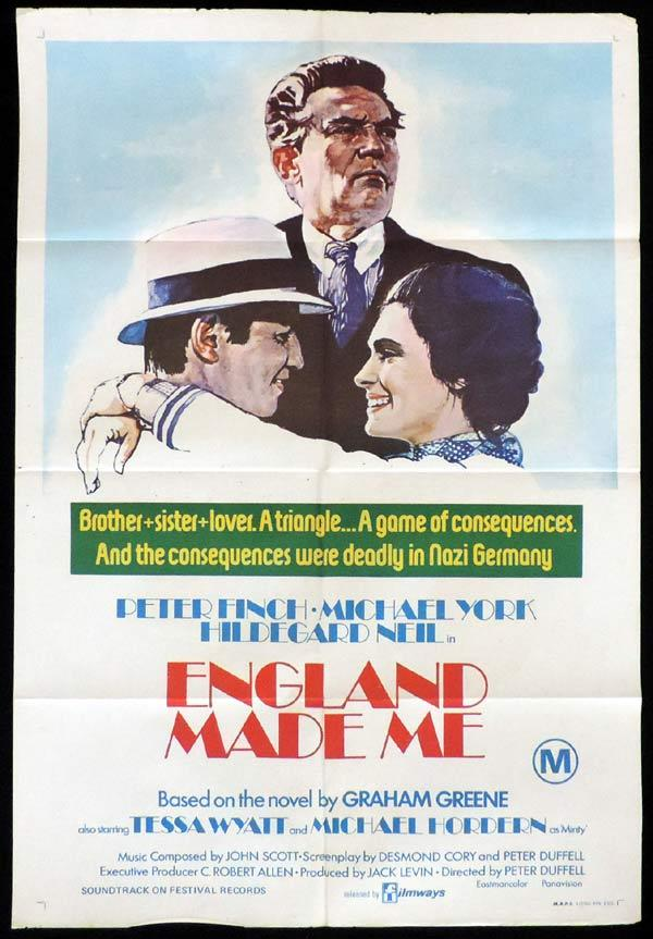 ENGLAND MADE ME One Sheet Movie Po0ster Graham Greene Peter Finch