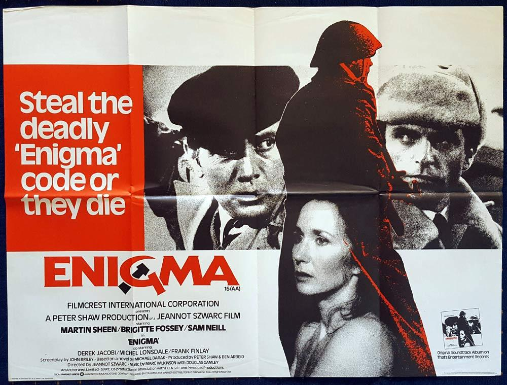 ENIGMA Original British Quad Movie poster Sam Neill Martin Sheen