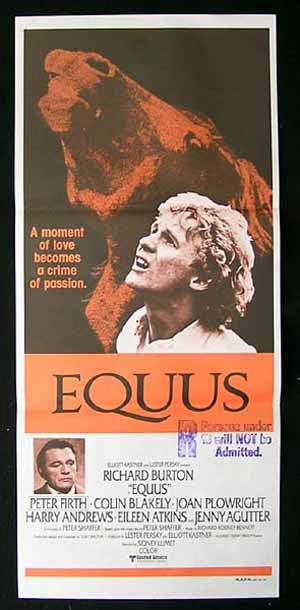 EQUUS-Richard Burton-Firth-Blakely-Agutter-Plowright po