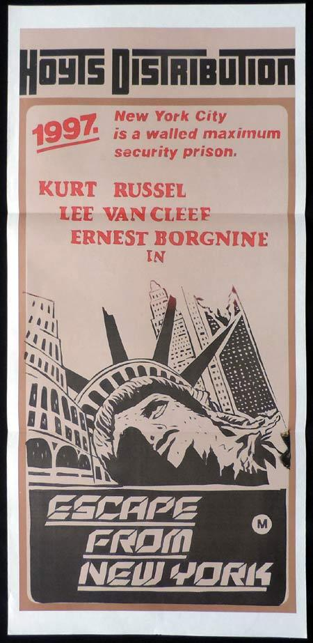 ESCAPE FROM NEW YORK Original Daybill Movie Poster Kurt Russell