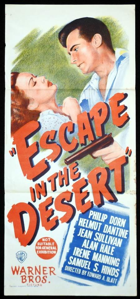 ESCAPE IN THE DESERT Original Daybill Movie Poster Phillip Dorn Film Noir