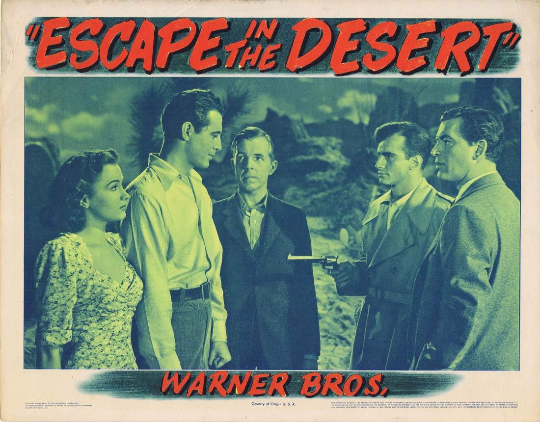 ESCAPE IN THE DESERT Lobby Card Jean Sullivan Philip Dorn Irene Manning