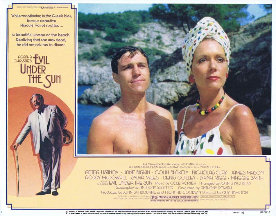 EVIL UNDER THE SUN Lobby Card 5 Peter Ustinov Diana Rigg  Nicholas Clay