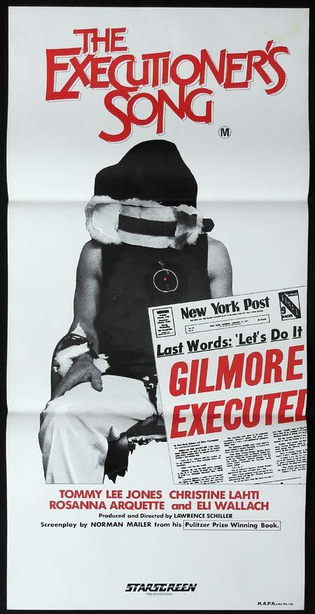 THE EXECUTIONERS SONG Original Daybill Movie Poster Tommy Lee Jones Christine Lahti Rosanna Arquette
