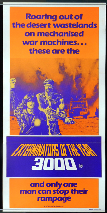 EXTERMINATORS IN THE YEAR 3000 aka Death Warriors daybill poster