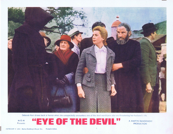 EYE OF THE DEVIL, Lobby Card, David Niven, Sharon Tate, Deborah Kerr