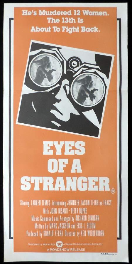 EYES OF A STRANGER Original Daybill Movie Poster Jennifer Jason Leigh