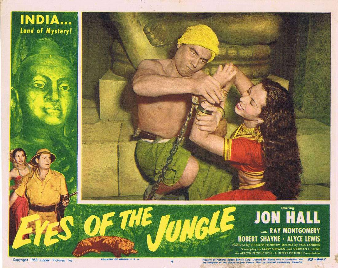 EYES OF THE JUNGLE Lobby Card 7 Jon Hall Ray Montgomery Victor Millan